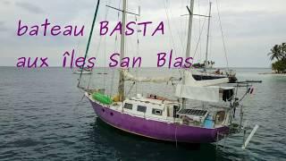 Le bateau Basta aux îles San Blas vu du ciel