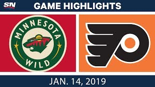 NHL Highlights   Wild vs. Flyers - Jan. 14, 2019