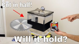 Can Flex Tape Hold a Sawed in Half Vacuum Chamber Together?