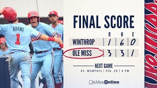 HIGHLIGHTS | Ole Miss sweeps Winthrop in Game 3 3 - 1 (02/18/18) #WAOM #FinsUpRebels