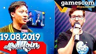 Hallo gamescom 2019: RBTV Stage & noch leere Hallen | MoinMoin mit Tim & Viet