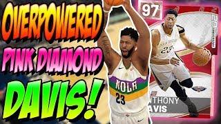 NBA 2K19 MYTEAM PINK DIAMOND ANTHONY DAVIS GAMEPLAY! DID HE JUST BREAK THE GAME!?