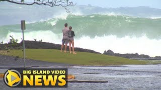 Huge Surf Closes Hilo Roads, Beaches (Nov. 23, 2017)