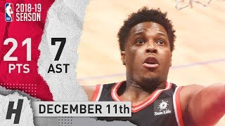 Kyle Lowry Full Highlights Raptors vs Clippers 2018.12.11 - 21 Pts, 7 Ast, 5 Rebounds!