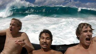 Couch Surfing Giant Shorebreak | Jamie O'Brien