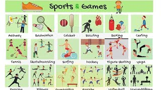 Sports and Games Vocabulary in English   Learn Names of Sports
