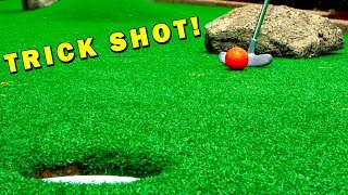 Sweet Mini Golf Trick Shot! Mini Golf Let's Play FOR REAL!