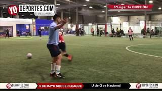 U de G vs Nacional Liga 5 de Mayo de Chicago