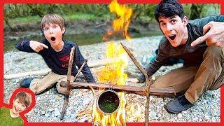 Father Son Nick's Sticks Survival Soup Adventure!