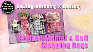 Stuffed Animal and Doll Sleeping Bags
