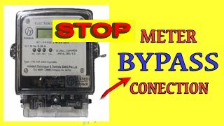 How to save electricity in meter bypass