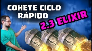 ¡GANO CON COHETE CICLO RÁPIDO! 2.3 ELIXIR | Malcaide Clash Royale