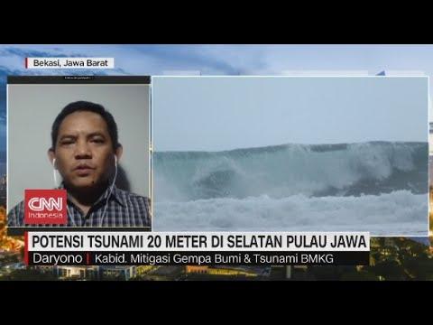 Potensi Tsunami 20 Meter di Selatan Pulau Jawa