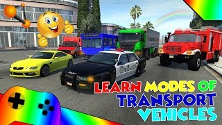 Learn Modes of Transport Vehicles for Children - Kids Song