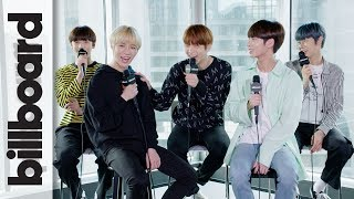 TXT Discuss Releasing 'Cat & Dog' In English & Love of BTS, Justin Bieber, Post Malone | Billboard
