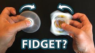 Fidget Spinners vs NO Fidget Spinner!! (How to do TRICKS!!)