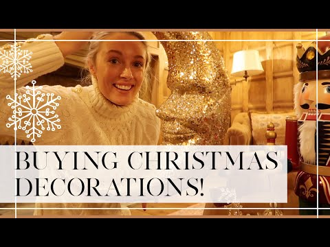 BUYING CHRISTMAS DECORATIONS FOR THE NEW HOUSE  🎄 // Fashion Mumblr Vlog