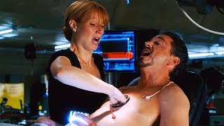 Changing The Arc Reactor ″Is It Safe?″ Scene - Iron Man (2008) Movie CLIP HD