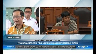 Tanggapan Mahfud MD Keponakannya Jadi Saksi Prabowo-Sandi