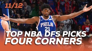 TOP NBA DFS PICKS TUES 11/12 - FOUR CORNERS - Sponsored by Superdraft - Awesemo