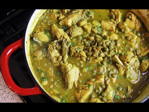 Curry Chicken With Pigeon Peas   CaribbeanPot.com