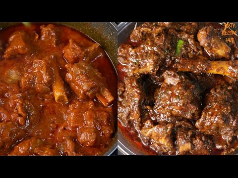 Two Types Of Delicious Mutton Recipe ! Punjabi Mutton Masala ! Mutton Korma Recipe