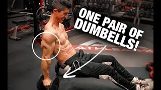 7 Minute Triceps Workout (JUST DUMBBELLS!!)
