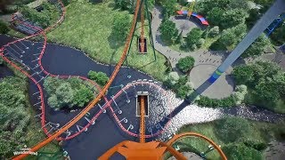 Yukon Striker front seat on-ride POV animation Canada's Wonderland New-for-2019