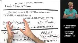 Converting between Moles, Atoms, and Molecules (Part 2)