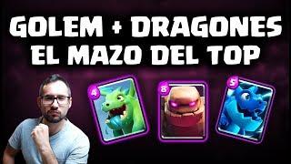 GOLEM + DRAGONES, ¡EL MAZO DE LOS PROS! | Malcaide Clash Royale