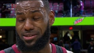 LeBron James Reacts to the News of Gregg Popovich's Wife   Postgame Interview   April 18, 2018