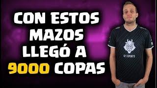 ¡LOS MAZOS CON LOS QUE VARIK0 LLEGÓ A 9000 COPAS! | Malcaide Clash Royale