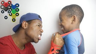 Kid Spends $1000 on brother's credit card to buy fidget spinners **PRANK!** (BACKFIRES)