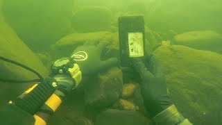 Found Knife, Fishing Pole and a Phone Underwater in River! (Scuba Diving)
