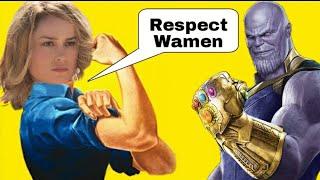 Captain Marvel - Brie Larson Tries To Dismiss Thanos