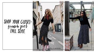 Shop Your Closet: French Girl Fall Style   Curated Capsule Closet   Fashion Envy   Slow Fashion