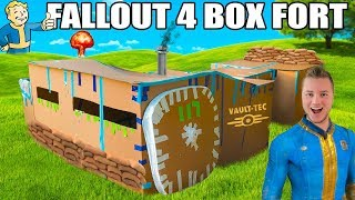 FALLOUT 4 BOX FORT VAULT!!📦 ☢️ 24 Hour Challenge: Running Water, Electricity & More!
