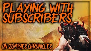 PLAYING WITH SUBSCRIBERS ON BO3 ZOMBIES W/ THEMERK | LIVESTREAM | PS4
