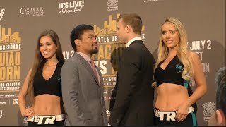 MANNY PACQUIAO v JEFF HORN - OFFICIAL HEAD TO HEAD @ FINAL PRESS CONFERENCE / PACQUIAO v HORN