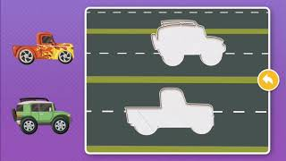 Cars planes vehicles puzzle game