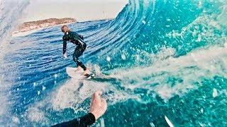 Sharing BIG waves & Saw a SHARK at Cape Fear