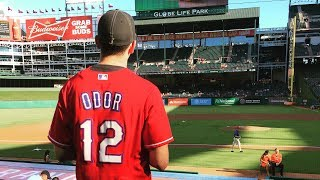 I WORE A ROUGNED ODOR JERSEY TO A BLUEJAYS GAME!