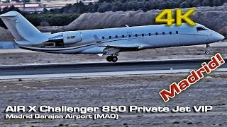 AIR X Challenger 850 [4K] Private Jet VIP (9H-AMY) Madrid