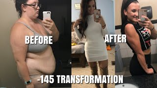-145 Pound Weight Loss Transformation. Before and After Photos/