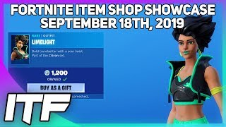 Fortnite Item Shop *NEW* LIMELIGHT SET! [September 18th, 2019] (Fortnite Battle Royale)