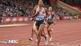 USA's Ajee Wilson cruises to 800m Diamond League victory | NBC Sports