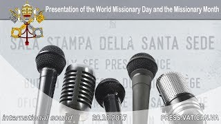 PRESS CONFERENCE: Presentation of the world Missionary Day and the Missionary Month