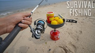 Eating ONLY What I Catch for 24 HOURS! (Survival Fishing)