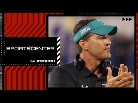 David Pollack is shocked at Coastal Carolina's ranking in the coaches' poll | SportsCenter