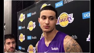 Kyle Kuzma on his involvement in the trade rumours for Anthony Davis